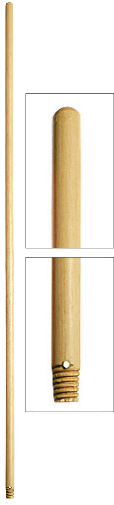 CABO DE MADEIRA 24mm C/ROSCA E FURO - 150cm