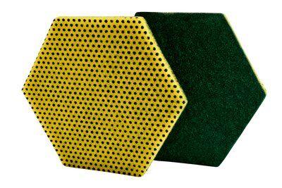 ESFREGÃO SCOTCH-BRITE 96HEX Dupla Acção Verde/Amarelo 147x127mm