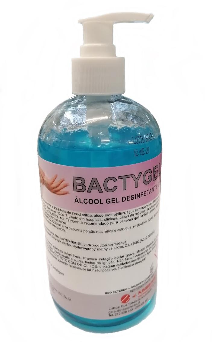 ALCOOL GEL BACTYGEL 500 ml C/BOMBA DOSEADORA