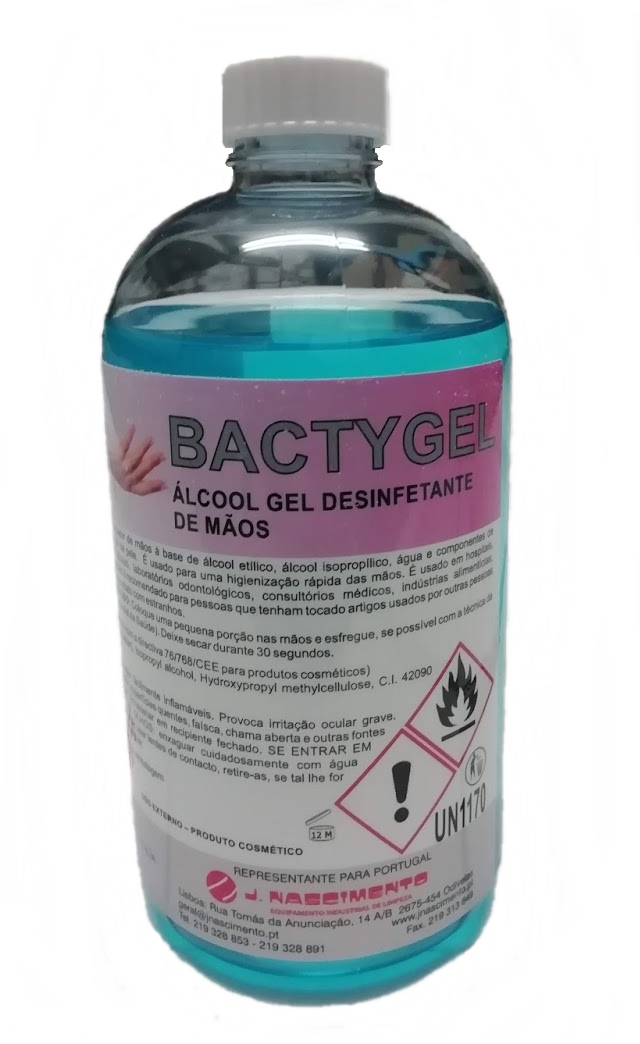 ALCOOL GEL BACTYGEL 500 ml C/TAMPA PUSH PULL