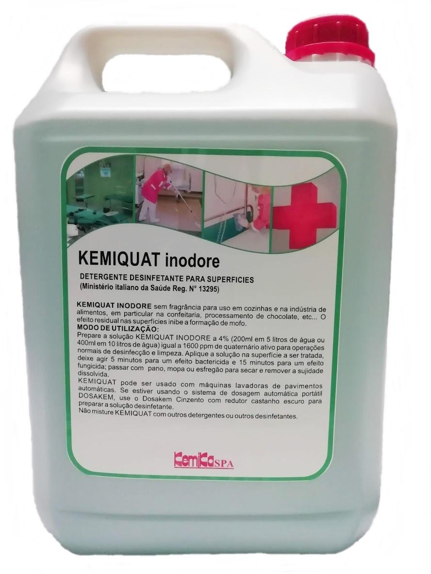 KEMIQUAT INODORE - Emb. 5 Lts. (DETERGENTE DESINFETANTE )